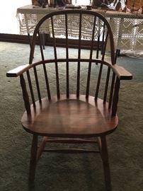 Antique Sack-back Windsor arm chair