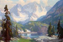 "MARION KAVANAGH WACHTEL (AMERICAN, 1870-1954), OIL ON CANVAS, CANVAS SIZE: H 28"", W 36"", ""GLACIER LAKE"" Lot # 2006"