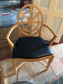 Lutyens Spider back chair, Black Spinneyback seat.  One of eight