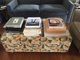 Gropius fabric upholstered ottoman