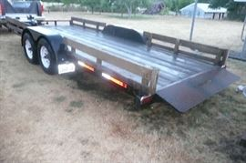 20 foot flatbed tilt trailer