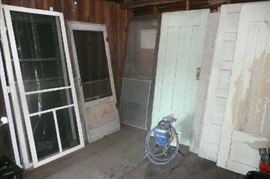 Antique wood doors, screen doors