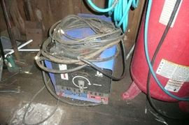 Stick heavy duty welder with extra long leads and 6 boxes of welding rod