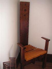 MacIntosh chair and side table