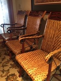 Set of 4 rattan chairs