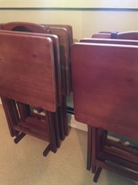 Two sets of tv trays