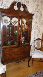 China Cabinet, matching table w/ 8 chairs, buffet