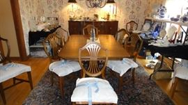 Dining Room, great table with 8 chairs, buffet & china cabinet