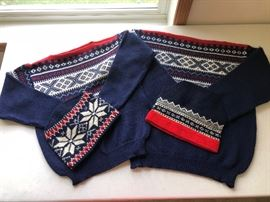 Vintage men's & women's Dale of Norway wool sweaters