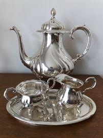 Vintage tea set in both 830 silver