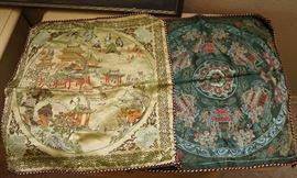 Chinese silk pillow shams