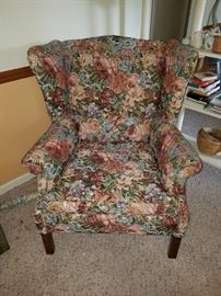 Smaller Wingback Floral Chair
