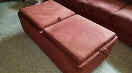 Microfiber Suede Coffee Table/Bench, Ottoman...see the next photo for how it works.