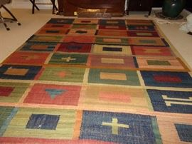 Large Hand sown Patterned Rug with underpad