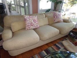Plush Sofa and Pillows