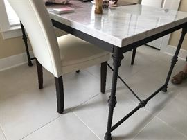 Crate & Barrel marble top kitchen table