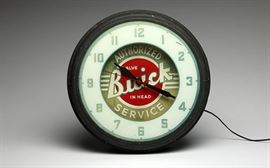 Steve McQueen Buick Neon Clock Authorized Service Advertising; EST $1,000-$1,500