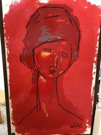 Modigliani silkscreen