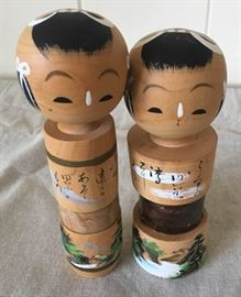 MMM08 Two Adorable Japan Kokeshi Dolls