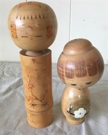 MMM009 Two Larger Kokeshi Dolls Set