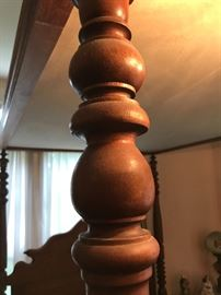 Turned bed post