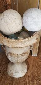 old iron urn