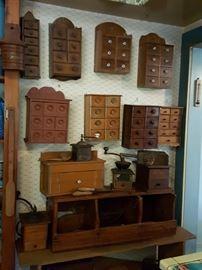 antique  spice boxes