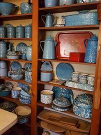 antique blue granite collection