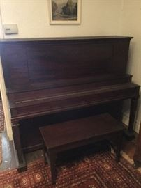 Antique Chickering Upright Piano with Bench http://www.ctonlineauctions.com/detail.asp?id=745427