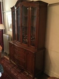 Solid Wood China Cabinet with Beveled Glass Doors  http://www.ctonlineauctions.com/detail.asp?id=745431