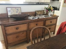 Great Primitive Pine Sideboard $800
