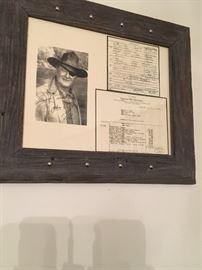 John Wayne Signed Memorabilia