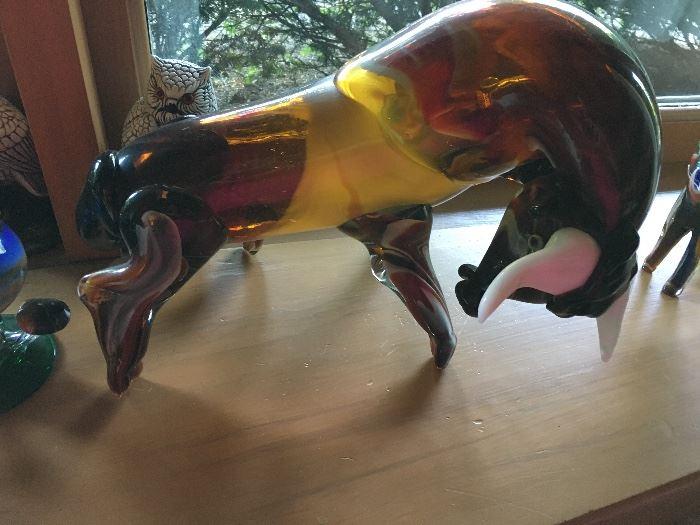 Cristal Blown glass bull