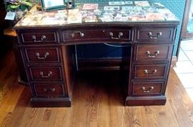 Vintage Federal style knee hole desk.