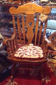 Vintage rocking chair.