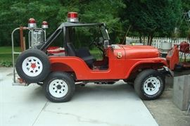 1971 Hudson fire department jeep.