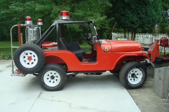 1971 Hudson fire department jeep.