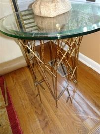 Mid Century Modern Gilded Base Table