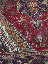 One of several nice room size hand knotted Persian rugs...these colors are vibrant and stunning!