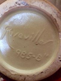 Roseville marking from bottom of vase