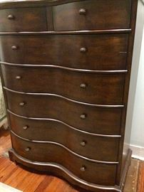 Tall and large chest with bow front!  Great storage!