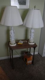 pair of Asian themed lamps