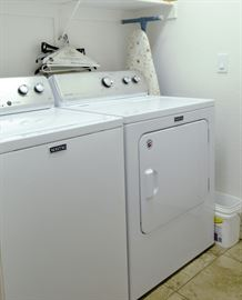 Maytag washer and dryer less than a year old with all the paperwork.
