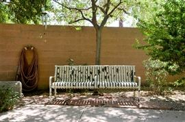 Extra wide city park bench. The real deal. It is stored at another location.