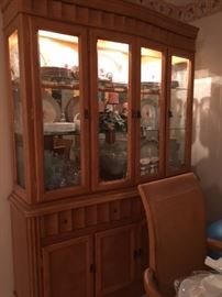 lighted china cabinet (matches table)