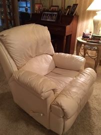 Leather recliner Part of three piece set