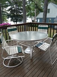 $100 Glass top table with 4 chairs