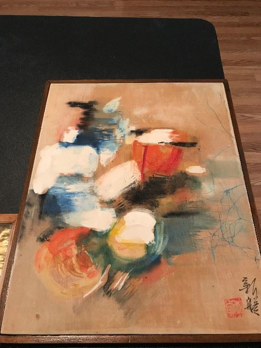 Japanese Oil on Canvas- Signed