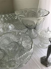 Lots of Nice Glass- Huge Punch Bowl