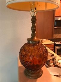 Mid Century Fenton Glass Lamp